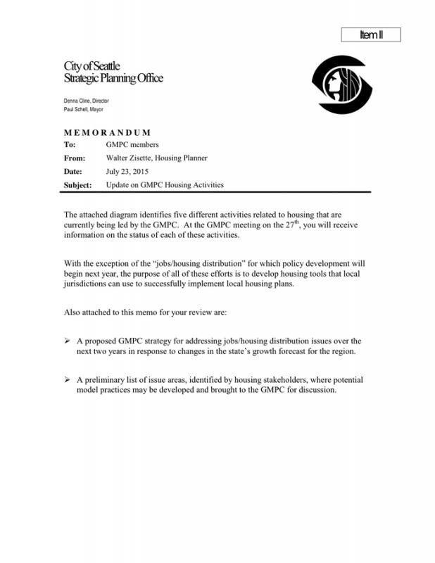 Business Memo Format Template Business