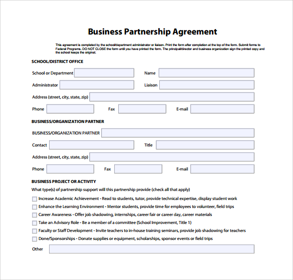 Business Partnership Contract Business Partnership Contract