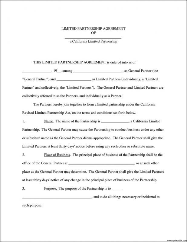 Business Partnership Agreement Template Template Business