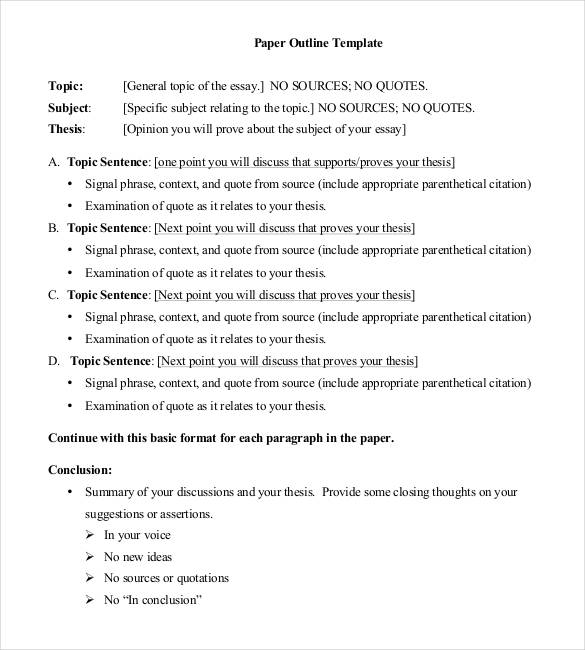 Business Plan Outline Example Template Business