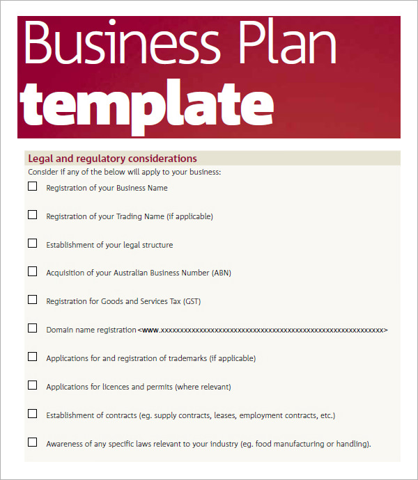 Business Plan Sample Pdf Template Business