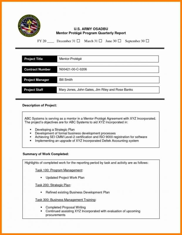 Business Report Example Template Business - formal business report template