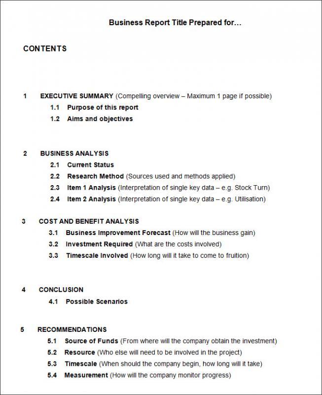 company report format template - Ozilalmanoof
