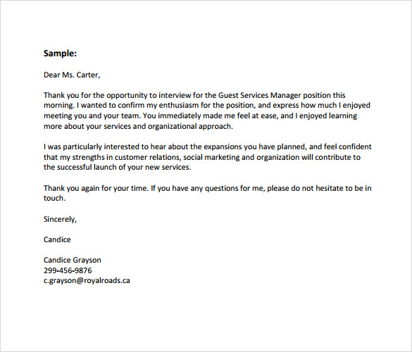 Business Thank You Letter Template Business