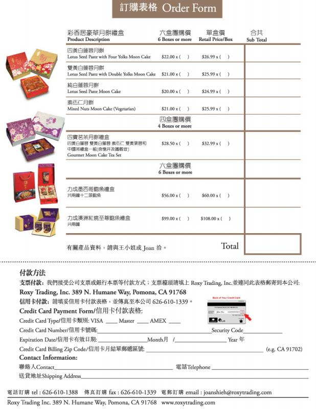 Cake Order Forms Template Business