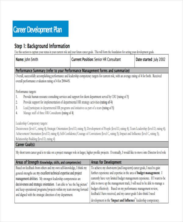 high school professional development plan template - 28 images