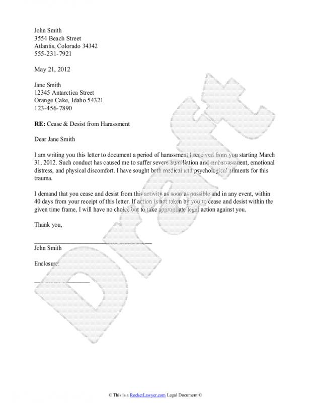 Cease And Desist Letter Sample Template Business - Cease And Desist Letter Sample