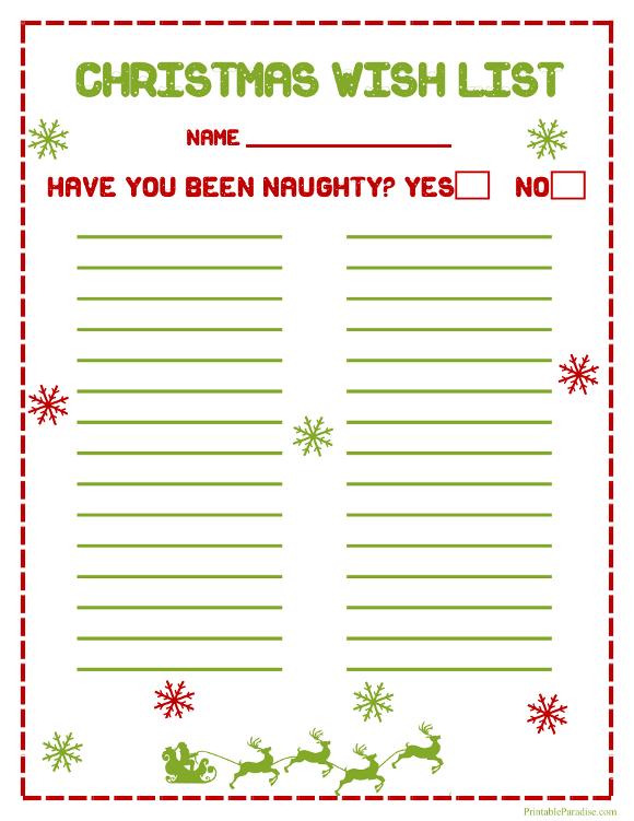 Printable Santa Wish List madebyrichard