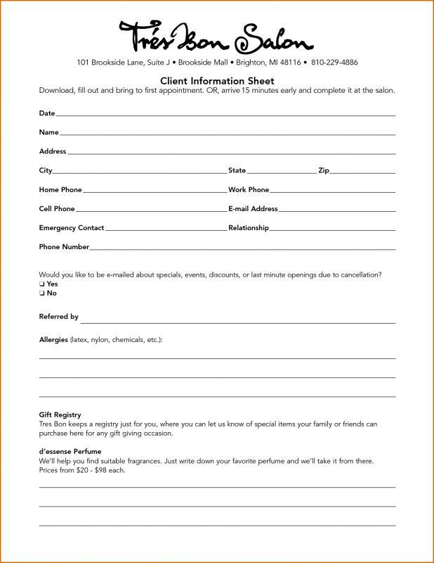 client information sheet - Alannoscrapleftbehind - information sheet template