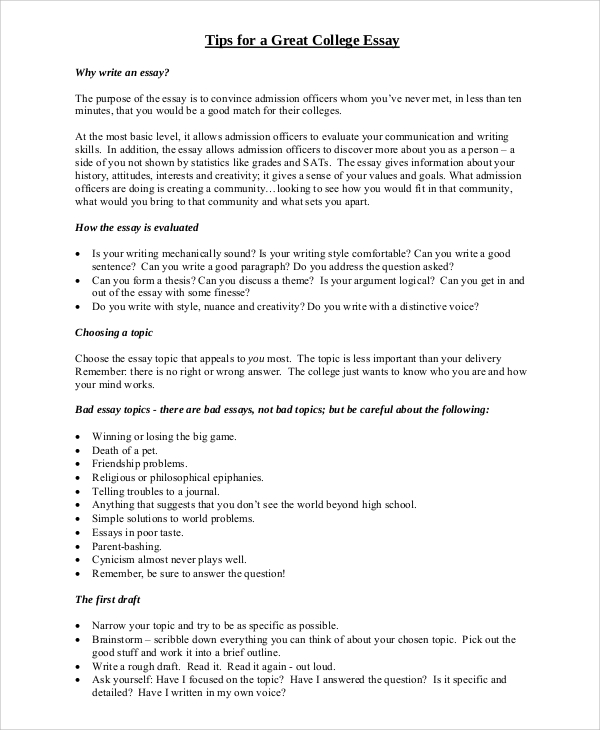 college essay topics essay thesis examples the most popular - college essay