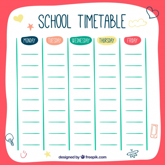 College Schedule Template Template Business - college schedule template