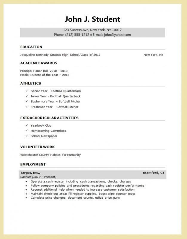 College Student Resume Templates Microsoft Word Template Business - college student resume templates microsoft resume