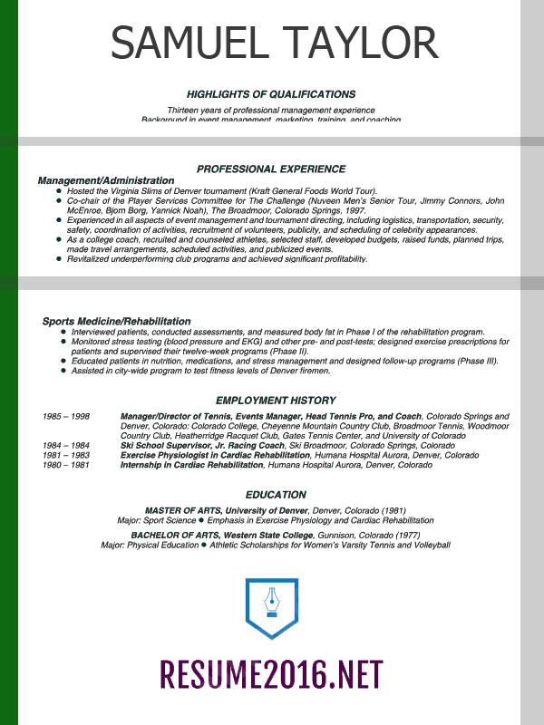 Combination Resume Template Template Business