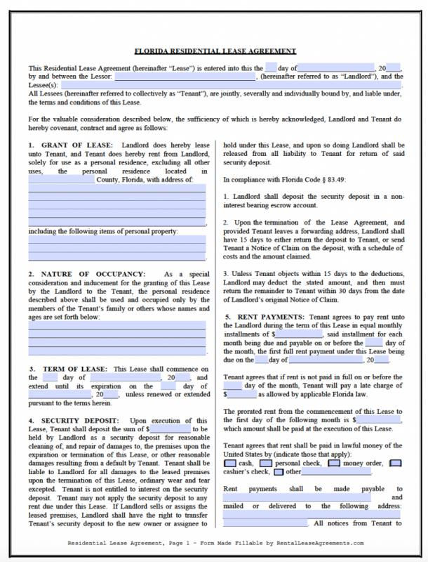 Lease Agreement Tenancy Agreement Free Template Free Lease - lease agreement word template