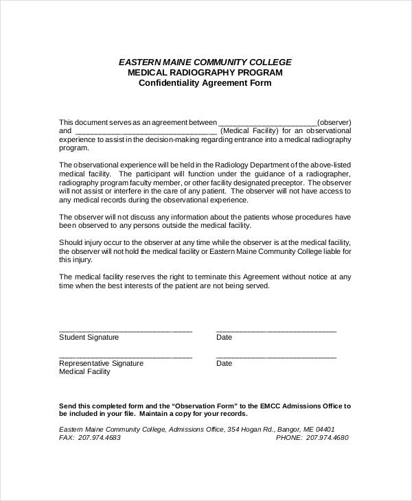 non disclosure agreement format - Peopledavidjoel