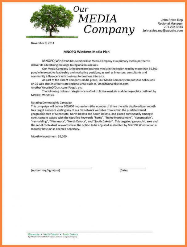 Construction Proposal Example Template Business