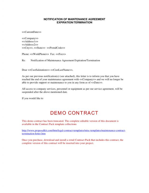 contract termination letter - Ozilalmanoof