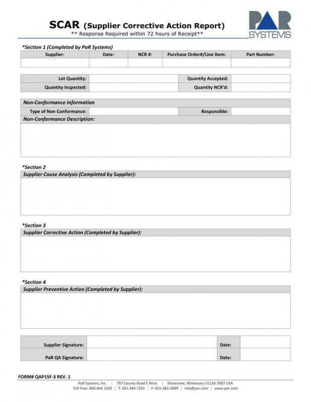 Corrective Action Plan Template Template Business