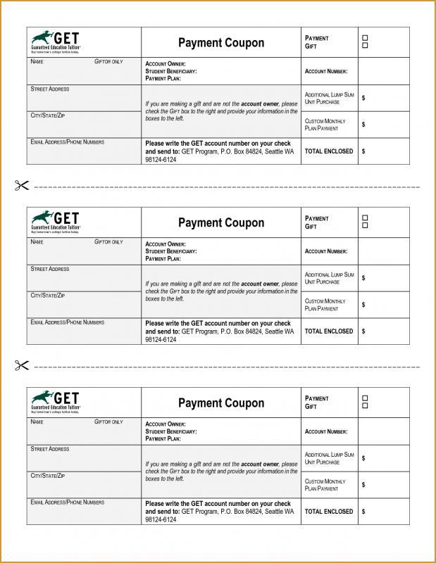 Coupon Book Template Template Business - payment coupons template