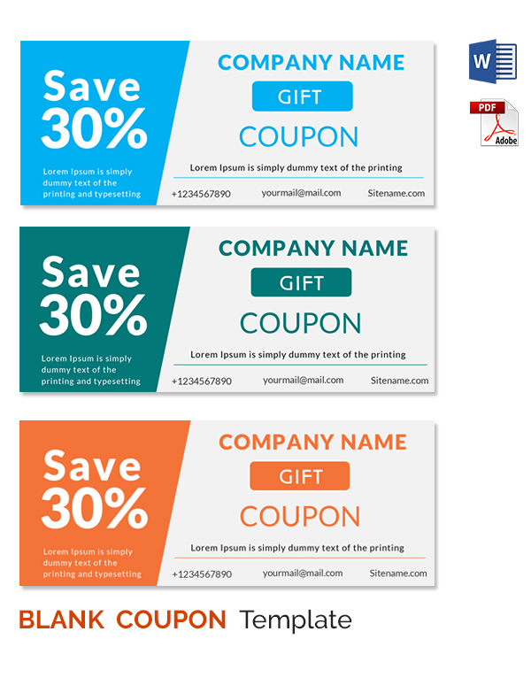Coupon Template Word Template Business - gift coupons template