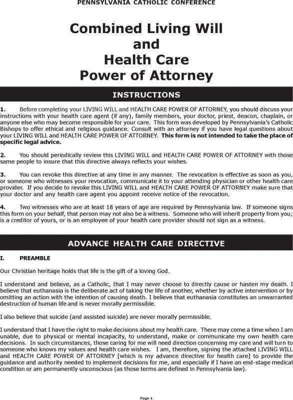 Health Care Power Of Attorney Form Cvfreeo