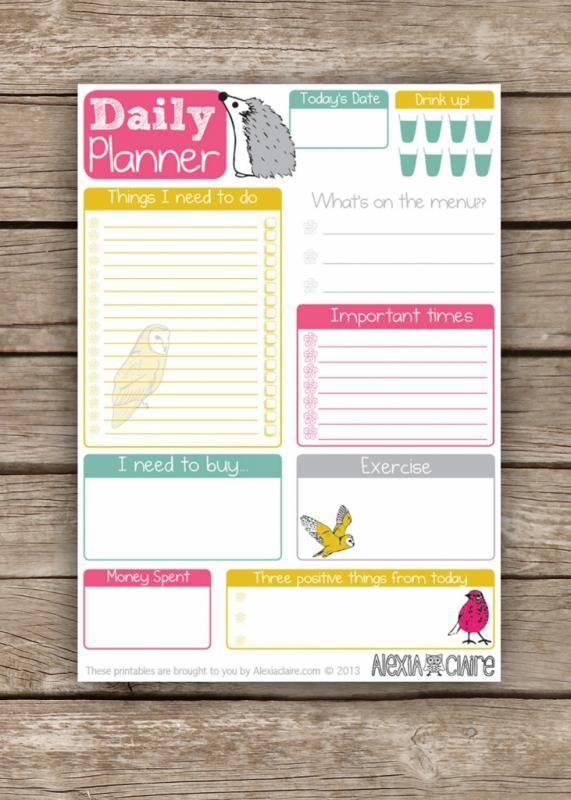 Cute Daily Planner Template Business