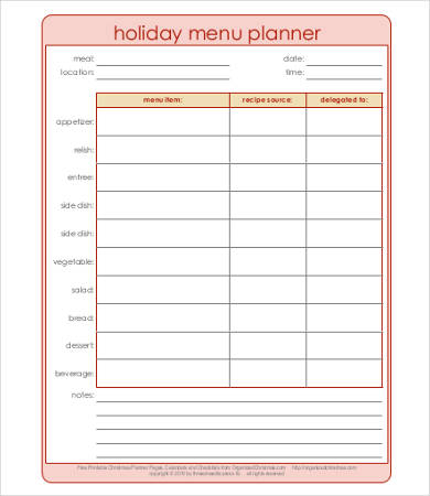 Daily Meal Plan Template Template Business - daily menu planner template