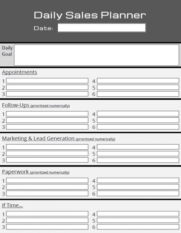 Daily Planner Templates Template Business