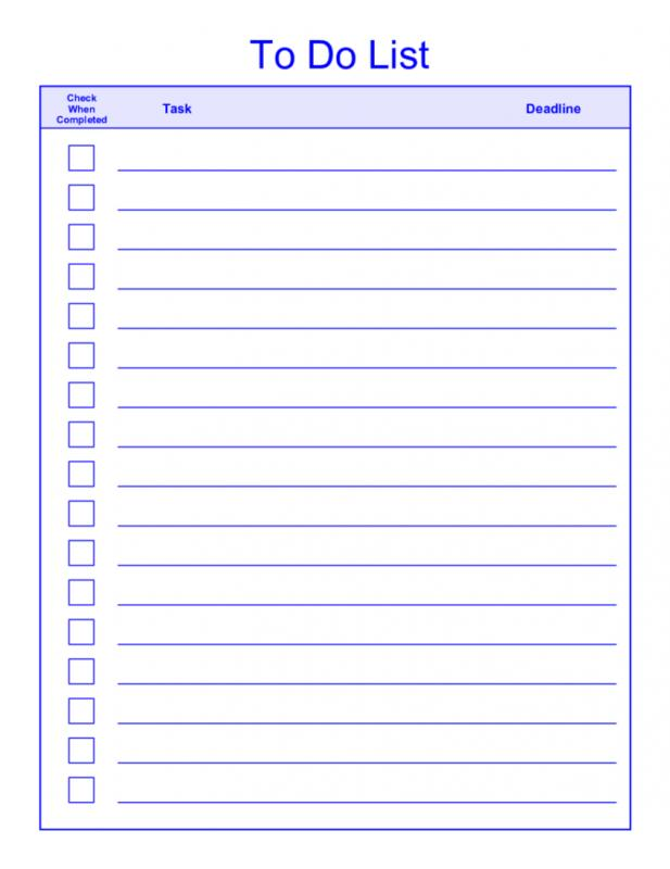 Daily To Do List Templates Template Business