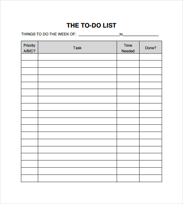 pictures gallery of 54 work task list template list template 5