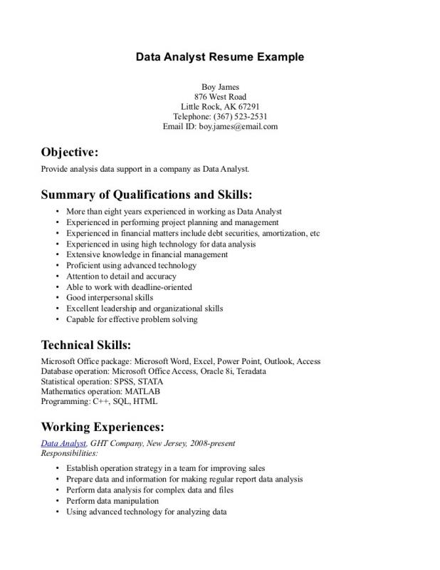 resume data analysis - Intoanysearch