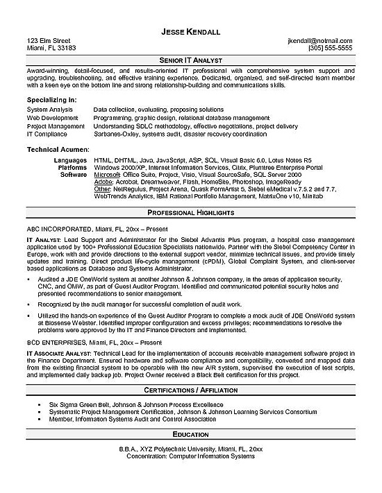 sample resume for data analyst - Kenicandlecomfortzone - analyst sample resume