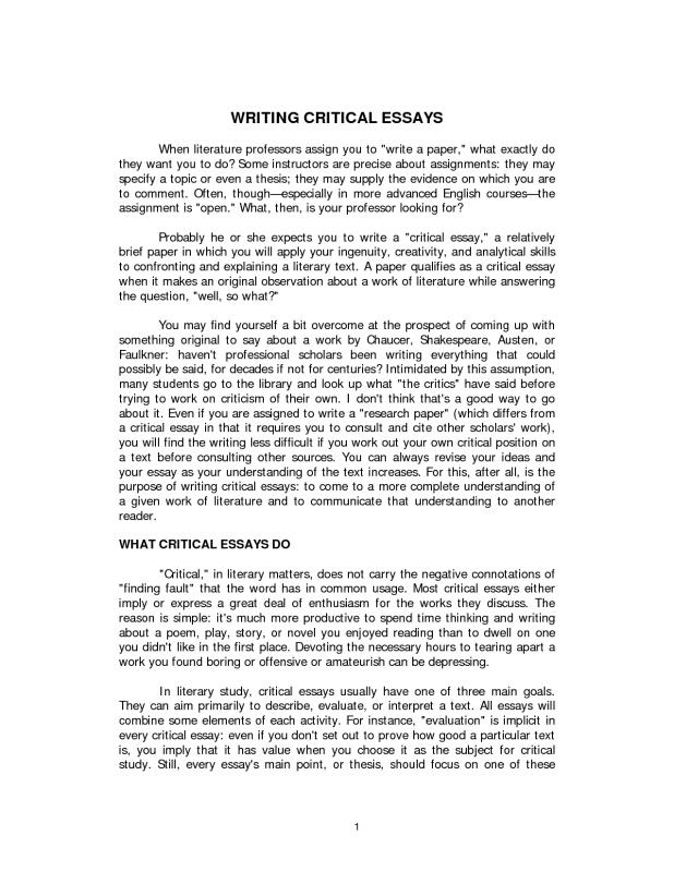 Descriptive Essay Example Template Business