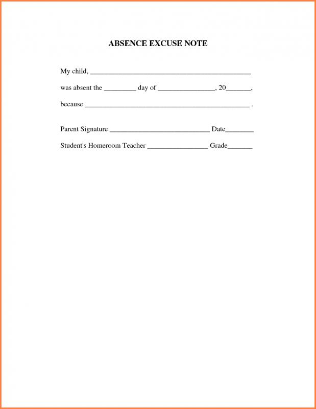 Doctors Note For Work Absence Template Business