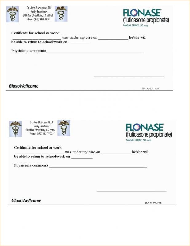 doctor notes for work pdf - Josemulinohouse - doctor note pdf