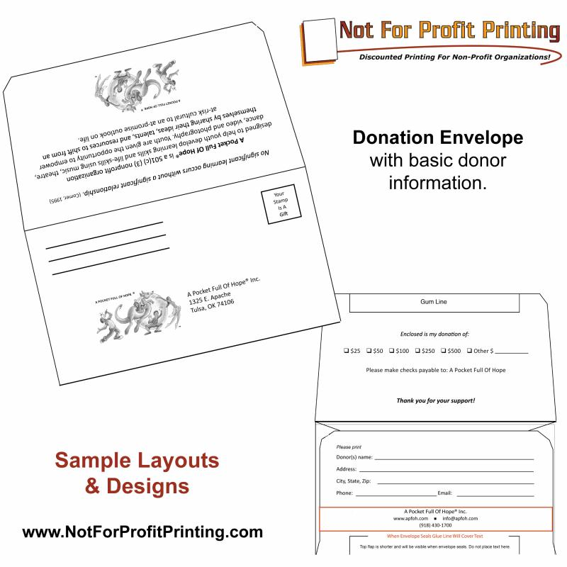 Donation Envelope Template Template Business
