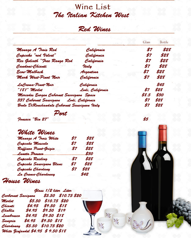 Drinks Menu Templates Template Business