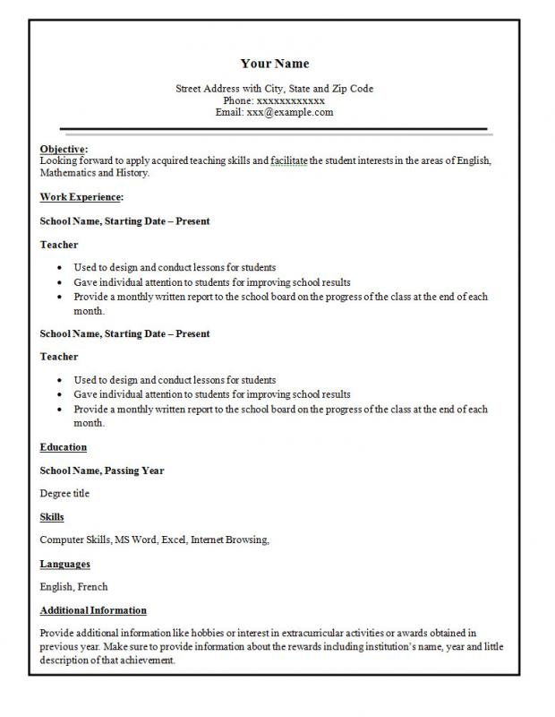 Easy Resume Template Template Business - easy resume