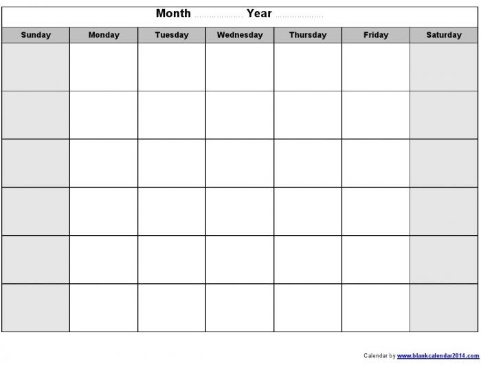 Editable Calendar Template Template Business