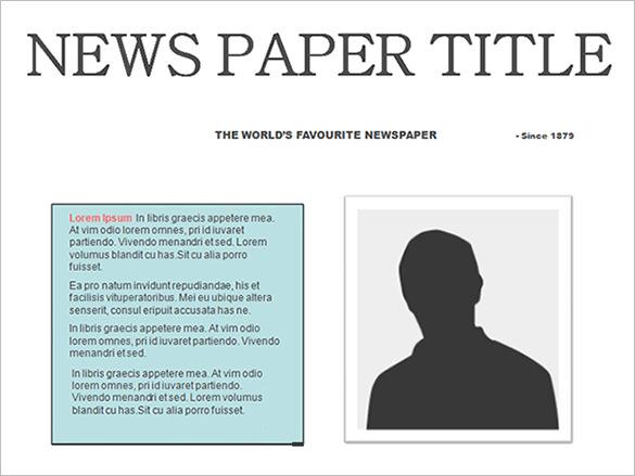 Editable Newspaper Template Template Business