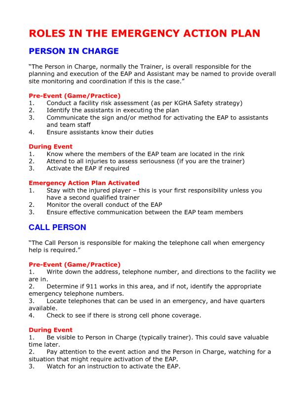 Emergency Action Plan Template Template Business - emergency action plan template