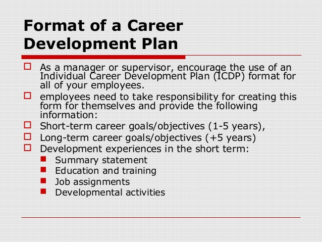 Employee Development Plans Templates Template Business