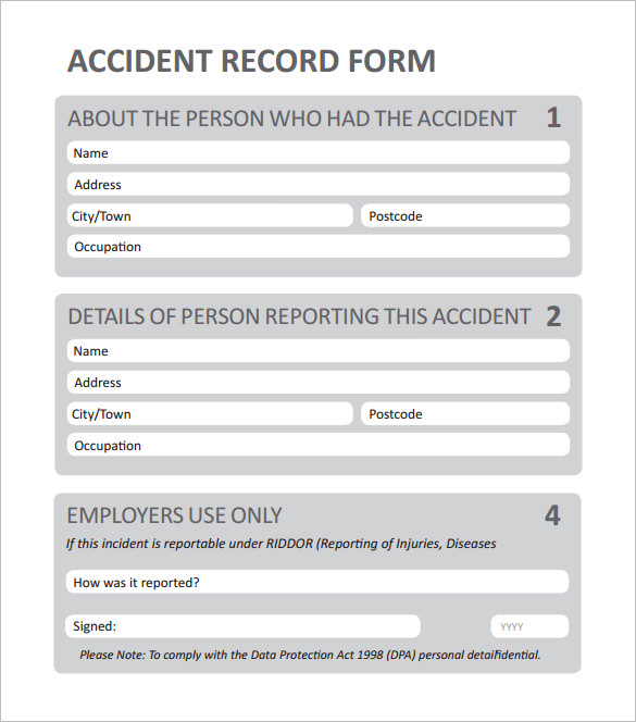 Employee Incident Reports Template Business