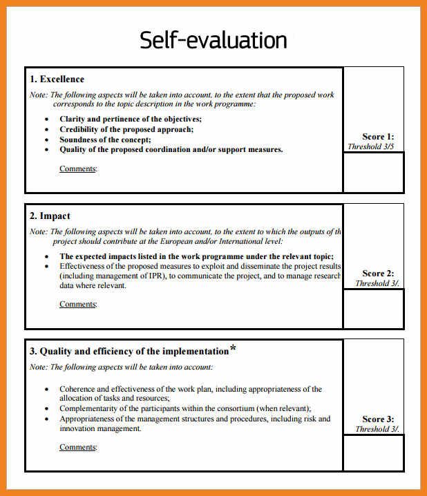 Employee Performance Evaluation Template Template Business