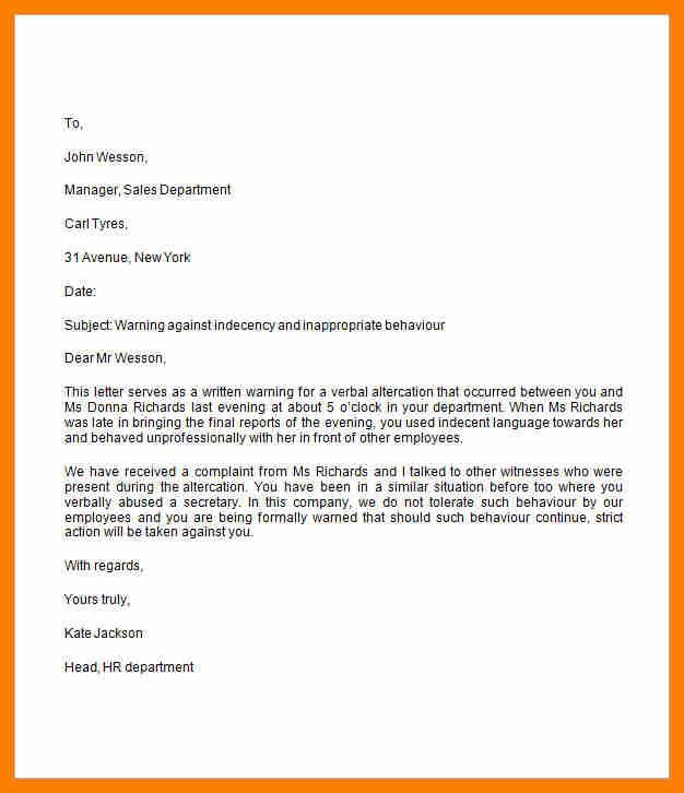 Employee Recommendation Letter Template Business