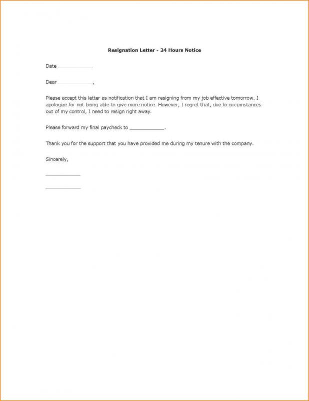 Employee Resign Letter Template Business