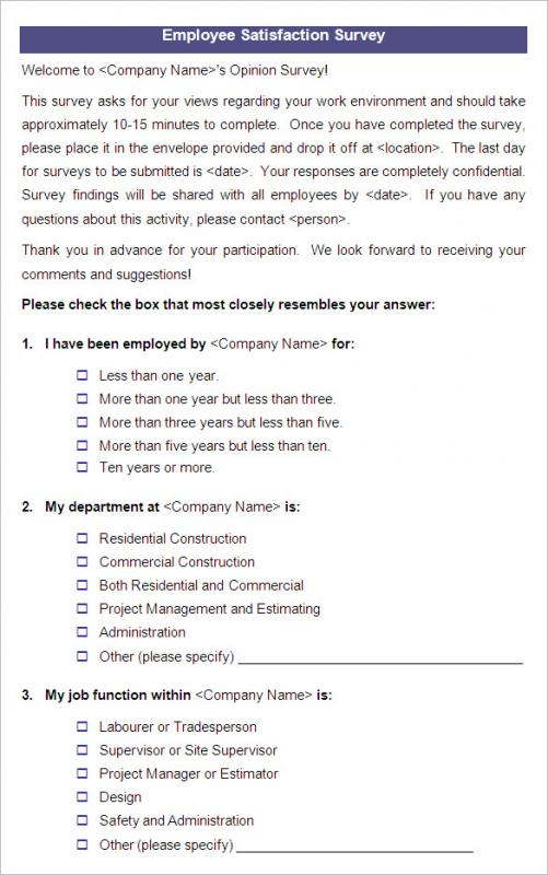 Employee FeedbackOpinion Survey Software - dinosauriensinfo - employment engagement survey template