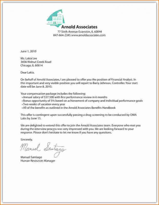 Employment Offer Letter Template Template Business