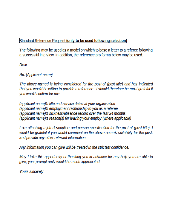 Employment Reference Letter Template Business - employment reference letters