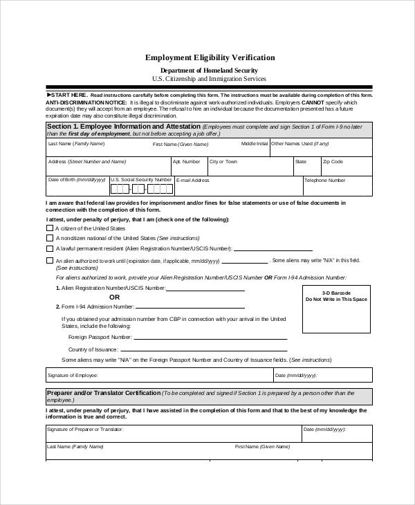 employment verification request form template - 28 images - best